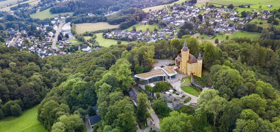 Immobilienbewertung im Saarland: Luftaufnahme von Homburg