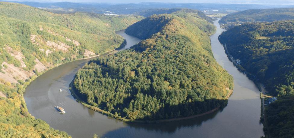 Saarschleife bei Mettlach-Orscholz im Saarland