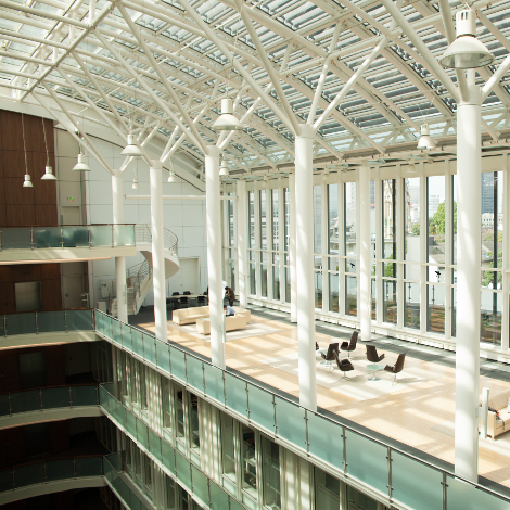 Halle oben Büro Frankfurt