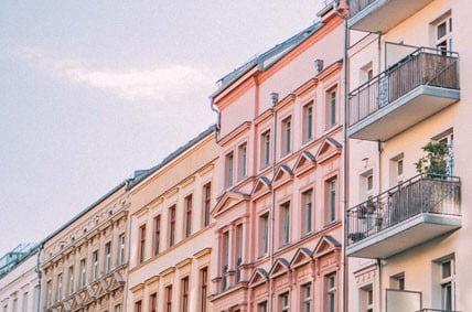 Lage von Immobilien - Haus an Haus in einem Wohnkiez