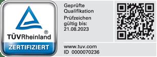 TÜV Rheinland Zertifizierung - Andreas Ruof